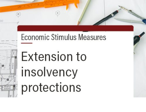 Extension to insolvency protections
